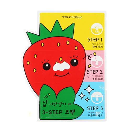 Трехступенчатое очищение кожи носа Tony Moly Homeless Strawberry Seeds 3-Step Nose Pack