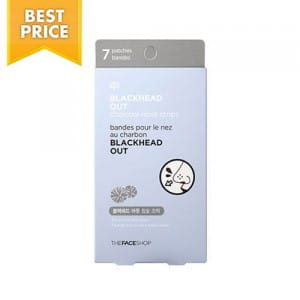 Очищающие полоски для кожи носа The Face Shop Blackhead Out Charcoal Nose Strips 7ea