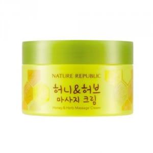 Крем для массажа с медом и травами NATURE REPUBLIC Honey & Herb Massage Cream 215ml