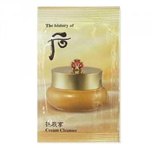 Крем для демакияжа Whoo Gong jin Hyang Cream Cleanser 1ml*10ea