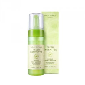 Пенка для умывания лица NATURE REPUBLIC Fresg Greeb Tea Bubble Cleanser 150ml