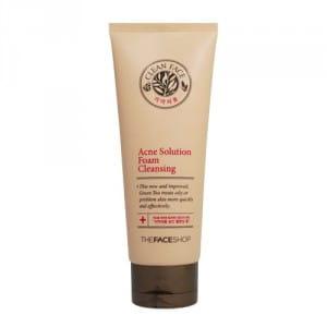 Противовоспалительная пенка для умывания The Face Shop Clean Face Acne Solution Foam Cleansing 150ml