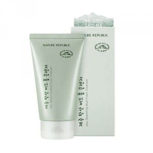Пенка для умывания лица NATURE REPUBLIC Jeju Sparkling Mud Foam Cleanser 150ml