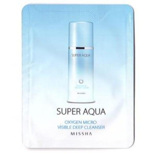 Пенка для умывания Missha Super Aqua Oxygen Micro Visible Deep Cleanser 3ml*10ea