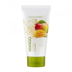 Очищающая пенка ляд лица с манго Nature Republic Real Nature Mango Foam Cleanser 150ml