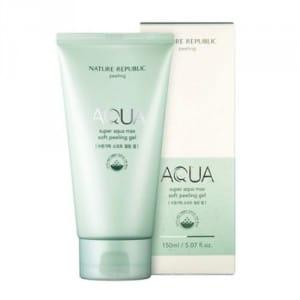 Нежный гель-пилинг для кожи лица Nature Republic Super aqua max soft peeling gel 150ml