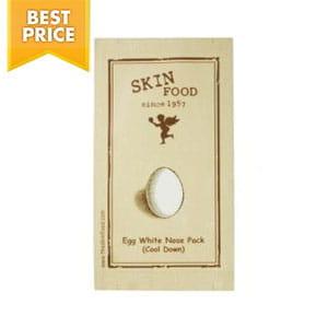 Осветляющая полоска для очищения носа с  яичным белком Skinfood Egg White Nose Pack (Cool Down) 1ea