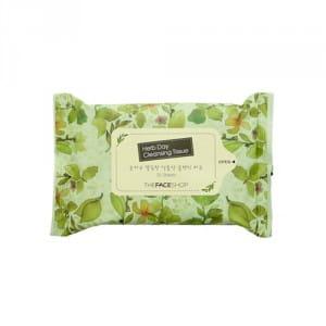 Очищающие влажные салфетки THE FACE SHOP Herb Day Cleansing Tissue 20 sheets