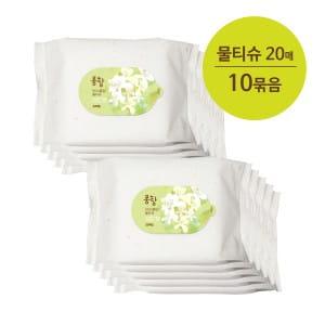 PongDang Soapwort Wet Wipe - 20sheets X 10ea