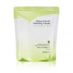 Очищающие влажные салфетки MAMONDE Happy & Smart Cleansing Tissues Refill 80pcs