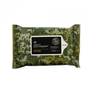 Очищающие влажные салфетки THE FACE SHOP Arsainte Eco-Therapy For Men Cleansing Wipes 20ea