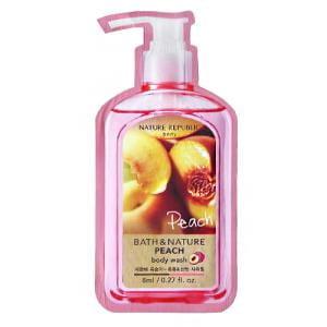 Гель для душа Nature Bath and Nature Peach Body Wash 8ml*10ea