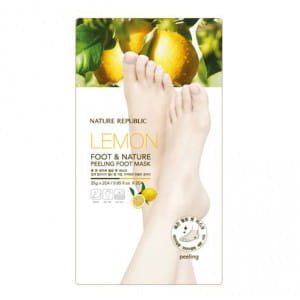 Кислотный пилинг-маска для ног с лимоном Nature Republic Lemon Foot & Nature Peeling foot mask 25gx2EA
