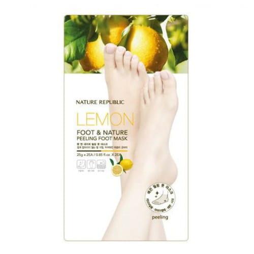 Кислотный пилинг-маска для ног с лимоном Nature Republic Lemon Foot & Nature Peeling foot mask 25gx2EA