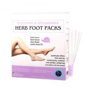 RUBELLI Whitening & Anti-Wrinkle Herb Foot Packs 1box
