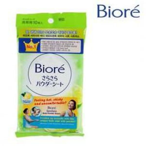 BIORE Sasa sara Body powder sheet : Zesty Citrus