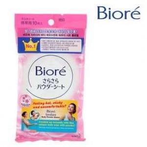 Салфетки для очищения кожи BIORE Sasa sara Body powder sheet : Breezy Floral
