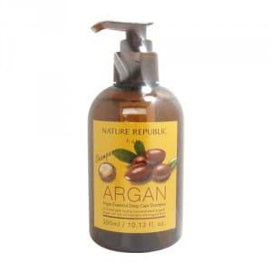 Шампунь для поврежденных волос с аргановым маслом NATURE REPUBLIC Argan Essential Deep Care Shampoo 300ml