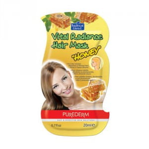 Маска для придания блеска волосам с медом Purederm Vital radiance hair mask honey 20ml
