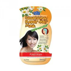Питательная маска для волос с экстрактом ромашки Purederm Nourishing repair hair mask chamomile 20 ml.