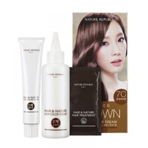 NATURE REPUBLIC hair and nature hair color cream 7C Choco Brown