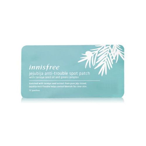 Комплект пластырей для борьбы с очагами воспаления на коже Innisfree Jejubija Anti-trouble Spot Patch (12pcs/1ea)