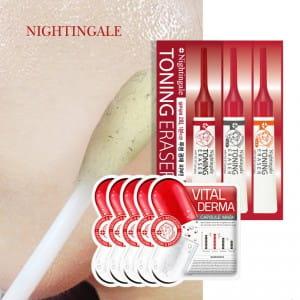 NIGHTINGALE Toning Eraser (1ea=2ml,1Box=5ea)&VIital Derma Capsule Mask 5EA
