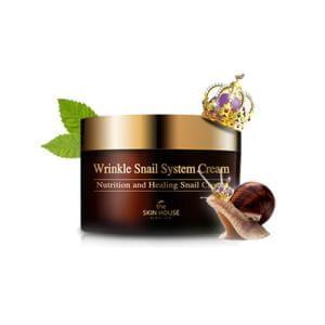 Омолаживающий крем с фильтратом слизи улитки The skin house Wrinkle Snail System Cream 100ml.