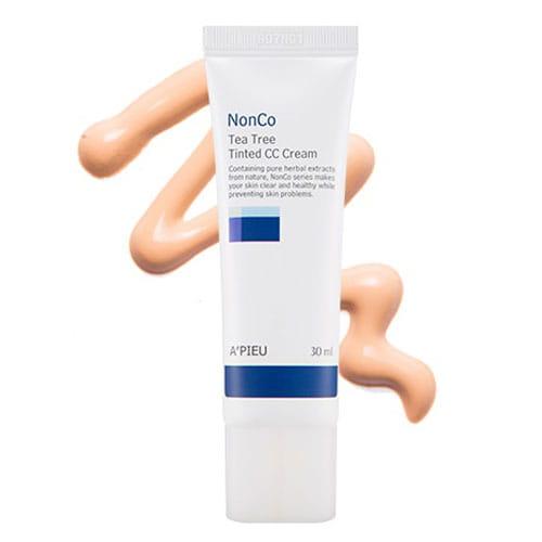 Маскирующий крем для проблемной кожи с маслом чайного дерева A'PIEU Nanco Tea Tree Tinted CC Cream SPF25 PA++ 30ml