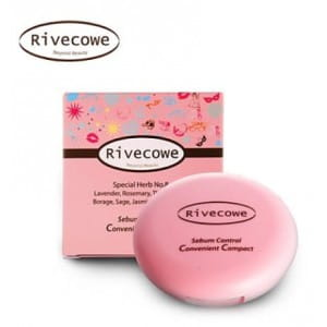 [MERRYSHOP] RIVECOWE CC Pact Sebum Control Convenient Compact Foundation 8g