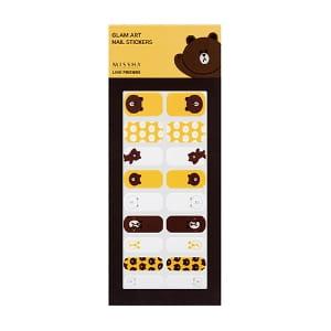 MISSHA Glam Art Nail Sticker [LINE FRIENDS EDITION] 01 Brown