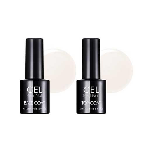 Гелевое базовое и закрепляющие покрытие Missha The Style Real Gel Nail Base & Top Coat 9g