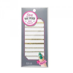 Стикеры для ногтей ETUDEHOUSE Play Nail Sticker (Golden studs) N0.01