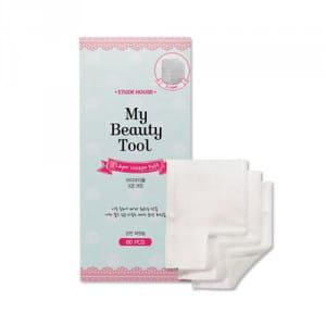 Трехслойные ватные салфетки для лица Etude House My Beauty Tools 3 Layer Cotton Puff 60P