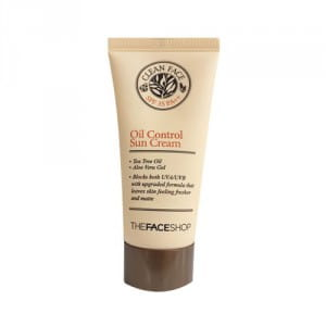THE FACE SHOP Clean Face Oil Control Sun Cream SPF35 PA++ 50ml (50% SALE)