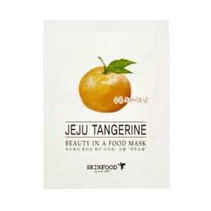 Увлажняющая листовая маска с экстрактом мандарина Skinfood Beauty in a food mask sheet, JEJU TANGERINE