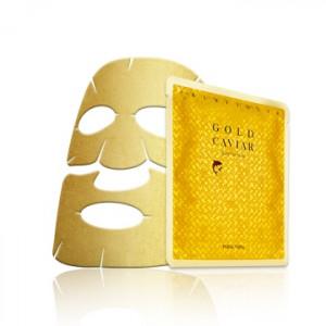 Антивозрастная  маска с золотом Holika Holika Prime Youth Gold Caviar Gold Foil Mask 25g
