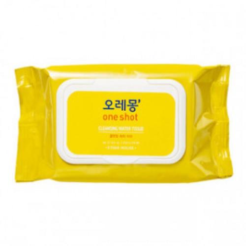 Очищающие влажные салфетки ETUDE HOUSE O LE MONG One Shot Cleansing Water Tissue 50P