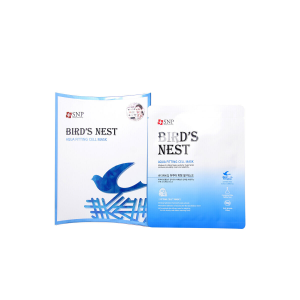 Маска для лица с экстрактом ласточкиного гнезда SNP Bird&Nest Aqua fitting cell mask 25ml*10шт