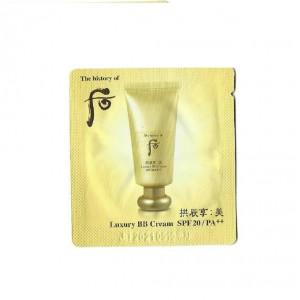 ВВ-крем с солнцезащитным эффектом The History of Whoo Gongjinhyang mi luxury bb cream spf 20/pa++ 1ml*10шт