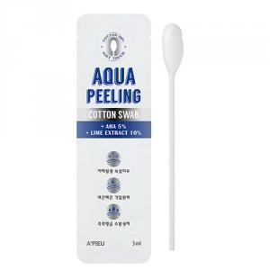 Точечный пилинг для черных точек Apieu Aqua peeling black head swab 2.5ml+3ml