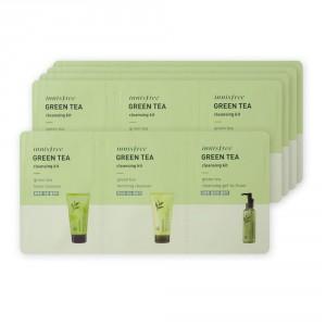 Комплект очищающих средств с зеленым чаем Innisfree Green tea cleansing kit 3ml*10шт