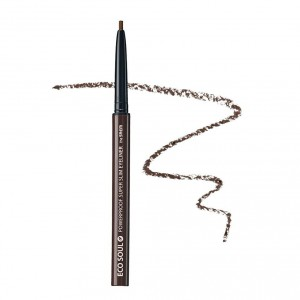 Автоматический карандаш-подводка The Saem Eco soul powerproof super slim eyeliner 0.2g