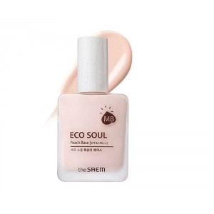 База под макияж The Saem Eco soul peach base 25ml spf44 pa++