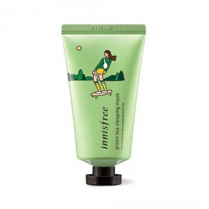 Ночная маска для лица Innisfree Eco hankie x green tea sleeping mask 50ml