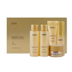 Подарочный комплект питательных средств Iope Super Vital special gift rich set (5 штук)