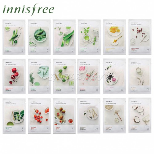 Одноразовые листовые маски для лица с растительными экстрактами Innisfree My real squeeze mask 20ml