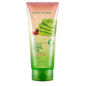 Увлажняющий гель с 92% кактуса Nature Republic Soothing & moisture cactus 92% soothing gel 250ml