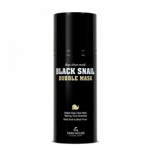 Кислородная маска с фильтратом муцина улитки The Skin House Black Snail bubble mask 100ml