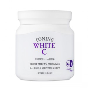 Ночная осветляющая маска Etude House Toning white c double effect sleeping pack 100ml